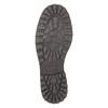 Lederhalbschuhe mit gesteppter Spitze bata, Schwarz, 826-6640 - 26