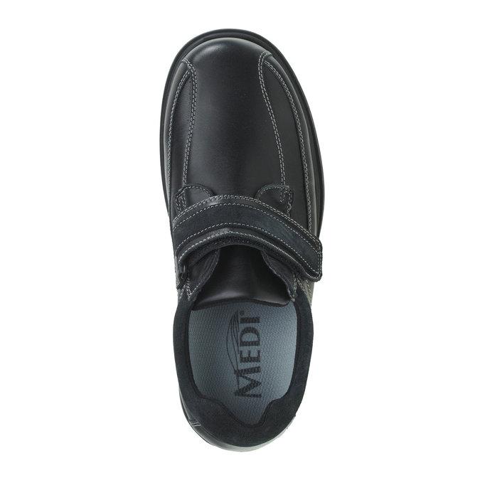 Leder-Sneakers bata, Schwarz, 834-6001 - 19