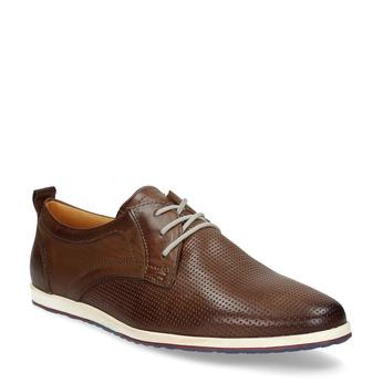 Lässige Leder-Sneakers bata, Braun, 824-4124 - 13