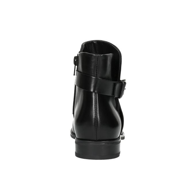 Knöchelschuhe aus Leder mit einer Schnalle bata, Schwarz, 594-6602 - 17