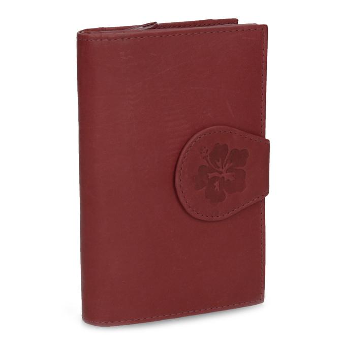 Damen-Geldbörse aus Leder, Rot, 944-5155 - 13
