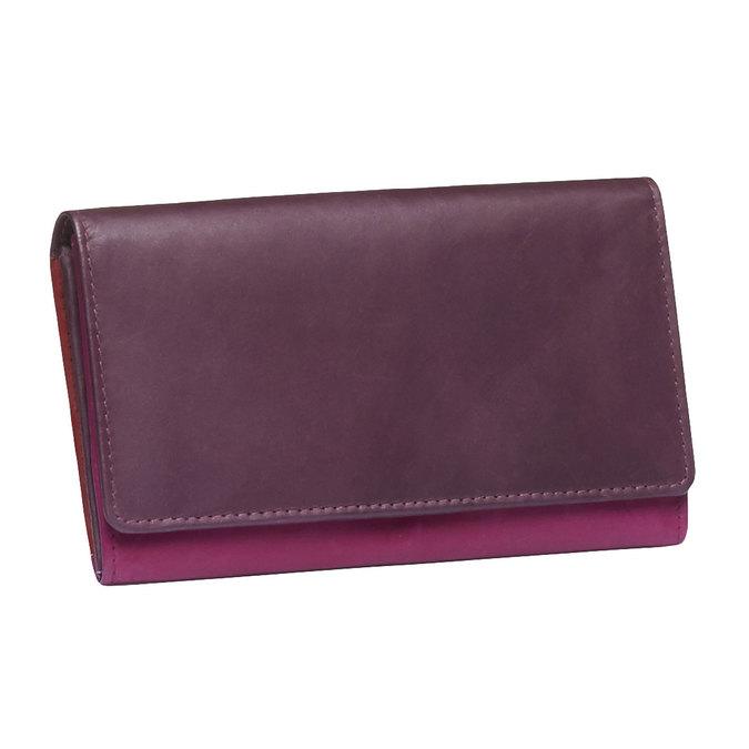 Damen-Geldbörse aus Leder bata, Rot, 944-5156 - 13