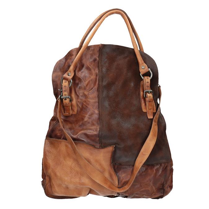Handtasche aus Leder mit festen Henkeln a-s-98, 966-0001 - 19