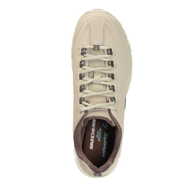 Damen-Sneakers aus Leder skechers, Beige, 503-3323 - 19