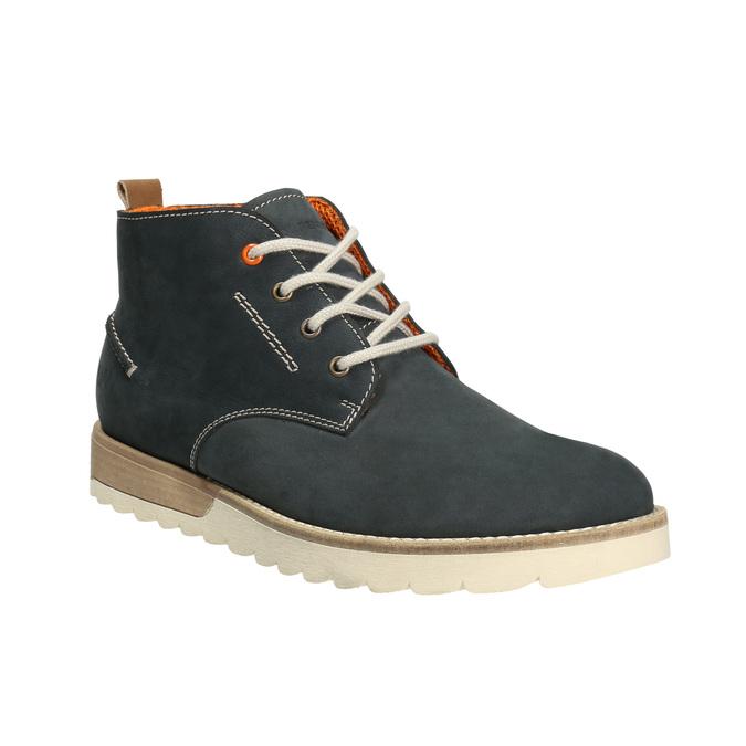 Herren Chukka Boots aus Leder weinbrenner, Blau, 846-9629 - 13
