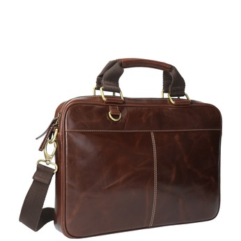 Braune Herrentasche aus Leder bata, Braun, 964-4204 - 13