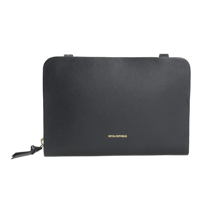 Schwarze Crossbody-Handtasche aus Leder royal-republiq, Schwarz, 964-6017 - 26