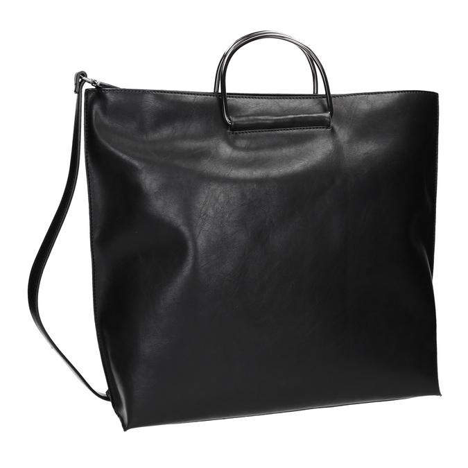 Damenhandtasche mit Metallhenkeln bata, Schwarz, 961-6789 - 13