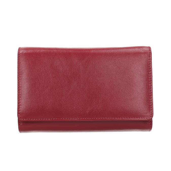 Damen-Geldbörse aus Leder bata, Rot, 944-5168 - 26