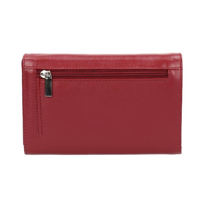 Damen-Geldbörse aus Leder bata, Rot, 944-5168 - 19