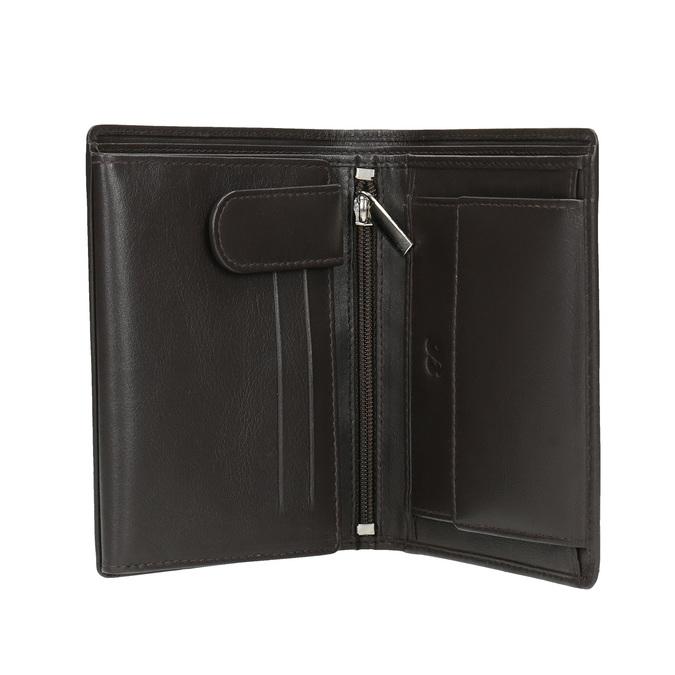 Herren-Geldbörse aus Leder bata, Braun, 944-4169 - 15