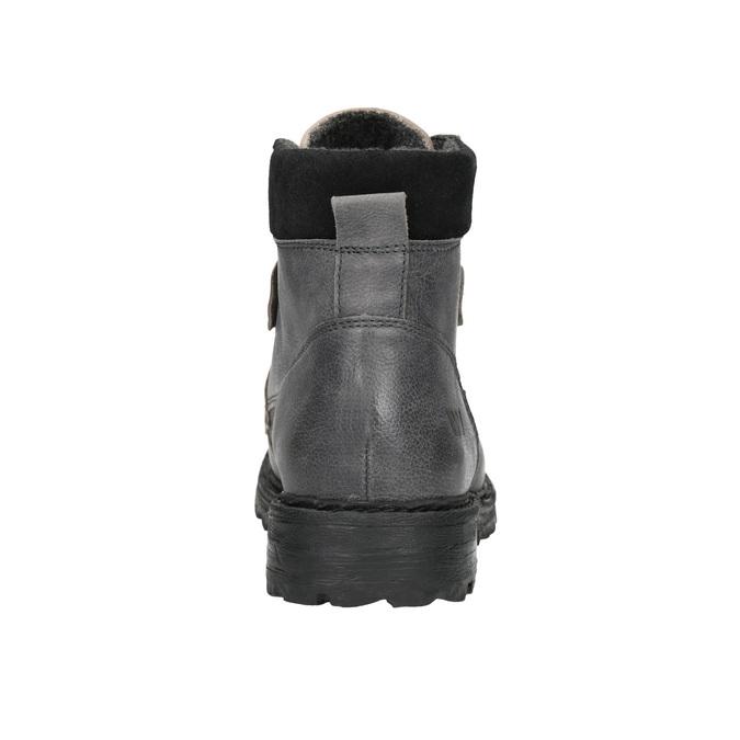 Knöchelschuhe aus Leder mit markanter Sohle weinbrenner, Grau, 896-2110 - 17