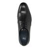 Schwarze Lederhalbschuhe bata, Schwarz, 824-6754 - 19