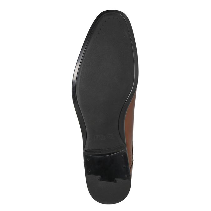 Braune Herrenhalbschuhe aus Leder bata, Braun, 826-3758 - 19