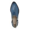 Lederstiefeletten mit Perforation bata, Blau, 596-9647 - 19