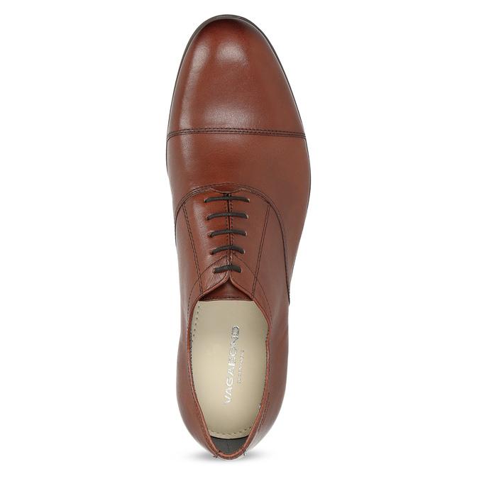 Braune Lederhalbschuhe im Oxford-Stil vagabond, Braun, 824-3048 - 17