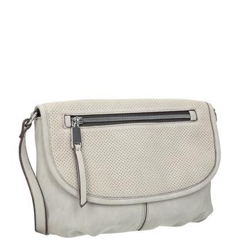 Crossbody-Handtasche mit perforierter Klappe bata, Grau, 961-2709 - 13