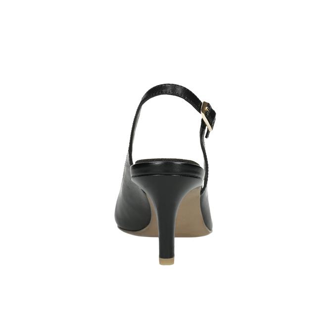 Lederpumps im Slingback-Stil pillow-padding, Schwarz, 624-6638 - 17