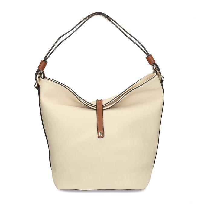 Handtasche im Hobo-Stil bata, Beige, 961-8705 - 26