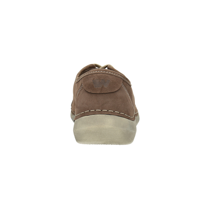 Legere Damen-Halbschuhe aus Leder weinbrenner, Braun, 546-4603 - 17