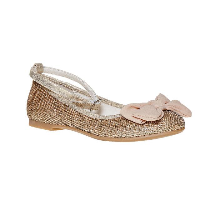 Mädchen-Ballerinas mit Schleife mini-b, Gold, 329-8241 - 13