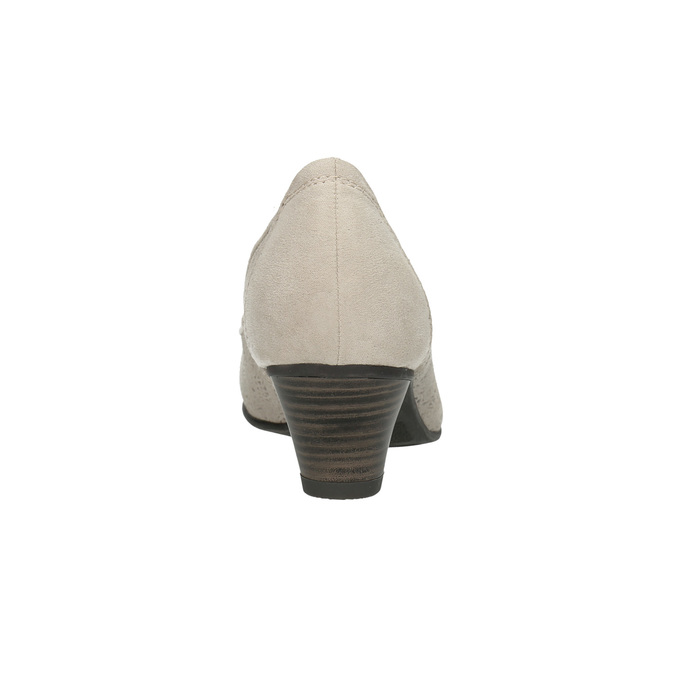 Lederpumps der Weite H bata, Grau, 623-2602 - 17