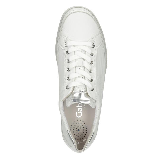 Weisse Sneakers aus Leder gabor, Weiss, 626-1204 - 15
