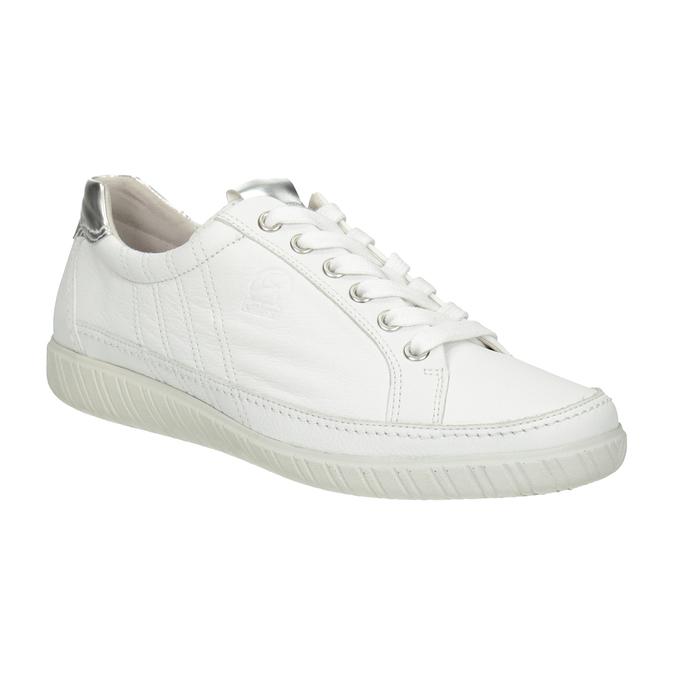 Weisse Sneakers aus Leder gabor, Weiss, 626-1204 - 13