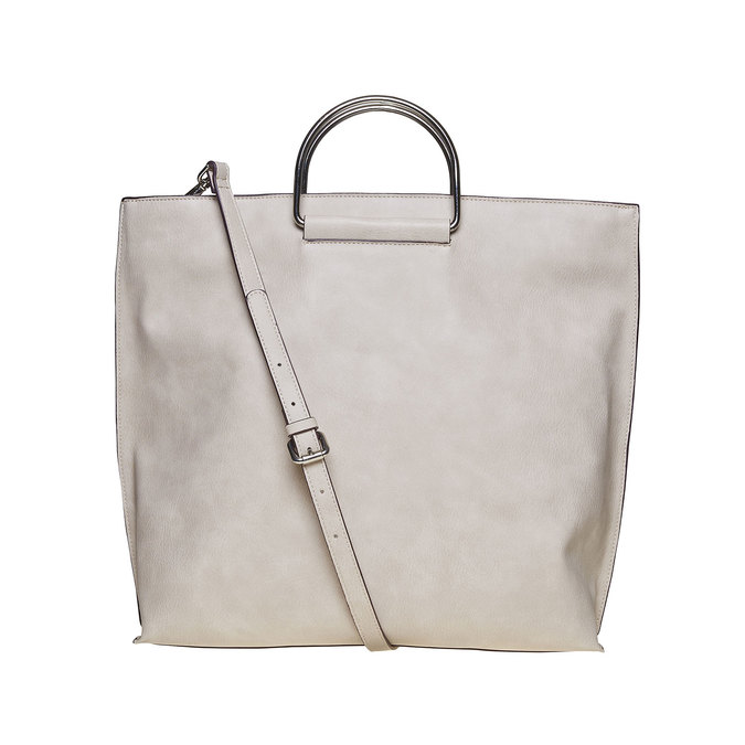 Cremefarbene Damenhandtasche bata, Grau, 961-8327 - 26