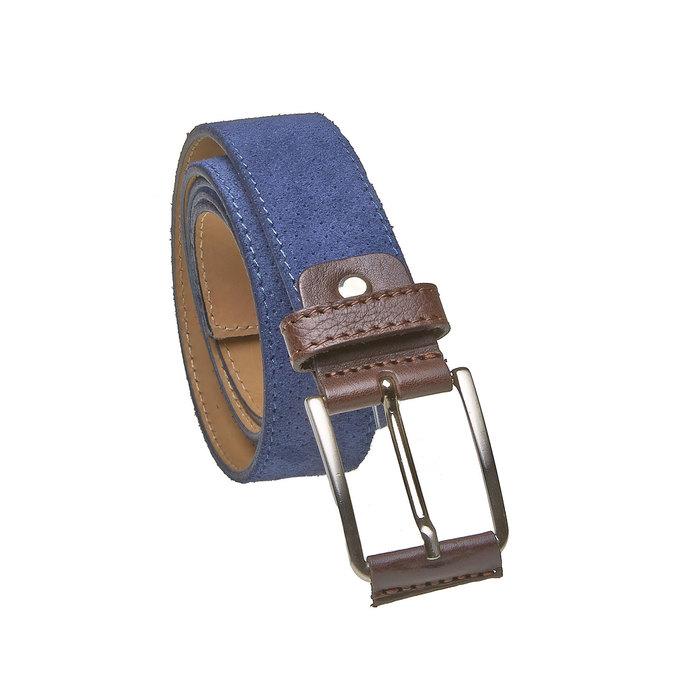 Ledergürtel mit Perforation bata, Blau, 953-9325 - 13