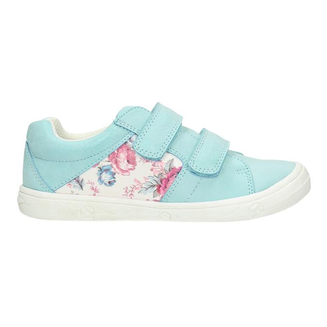 Kinder-Sneakers mit Blumenmotiv mini-b, türkis, 221-7605 - 15