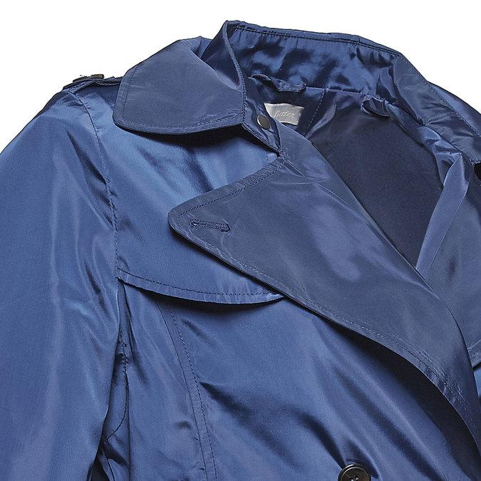 Blauer Damen-Trenchcoat bata, Blau, 979-9205 - 16