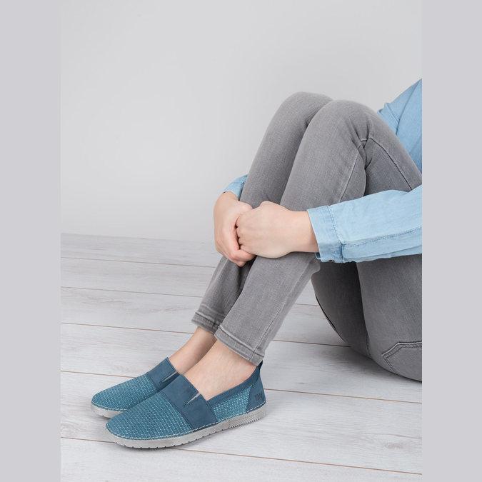 Blaue Slip-Ons weinbrenner, Blau, 513-9263 - 18