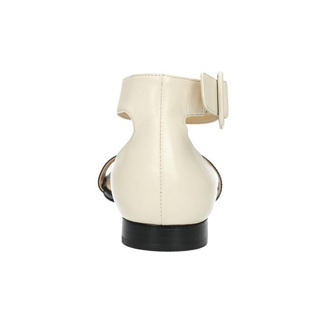 Sandalen aus Lackleder bata, Schwarz, 568-6606 - 17
