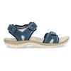Damensandalen aus Leder weinbrenner, Blau, 566-9608 - 19