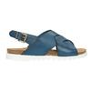 Damensandalen aus Leder weinbrenner, Blau, 566-9628 - 15