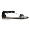 Schwarze Sandalen aus Leder bata, Schwarz, 564-6600 - 15