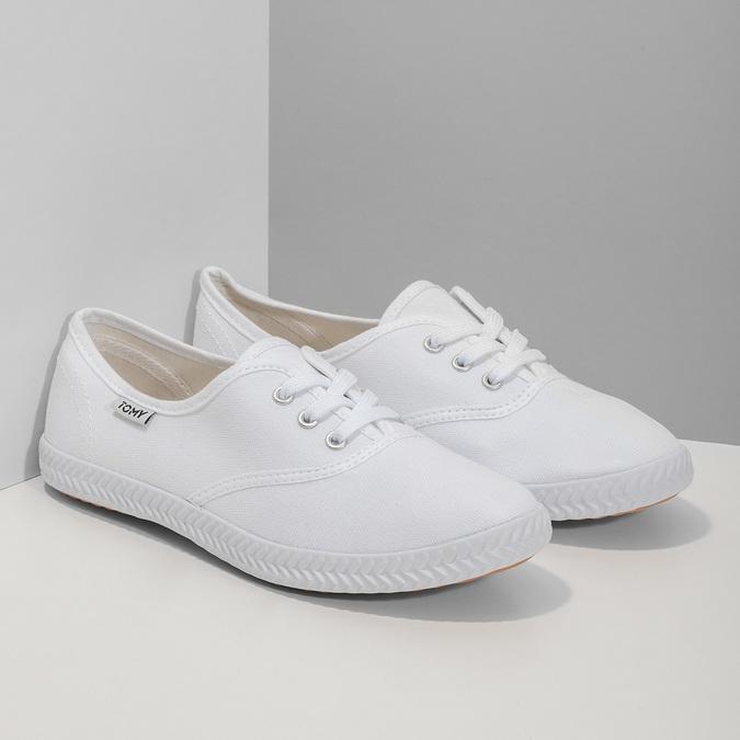 Weisse Damen-Sneakers tomy-takkies, Weiss, 589-1180 - 26
