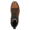 Knöchelhohe Sneakers aus Leder bata, Braun, 846-3640 - 26
