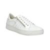 Damen-Sneakers aus Leder mit Reissverschluss bata, Weiss, 526-2630 - 13