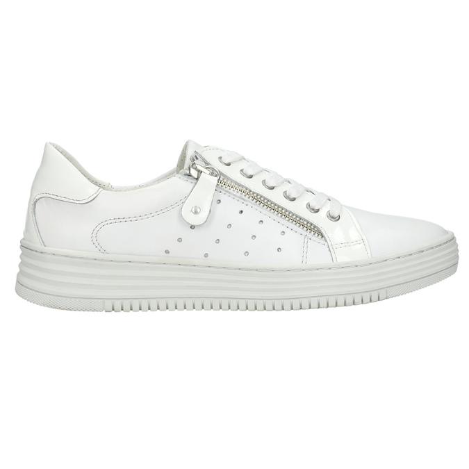 Damen-Sneakers aus Leder mit Reissverschluss bata, Weiss, 526-2630 - 15