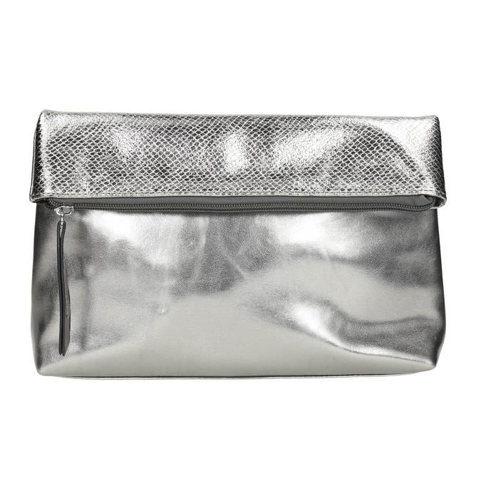 Silberne Crossbody-Handtasche bata, Silber , 961-1501 - 17