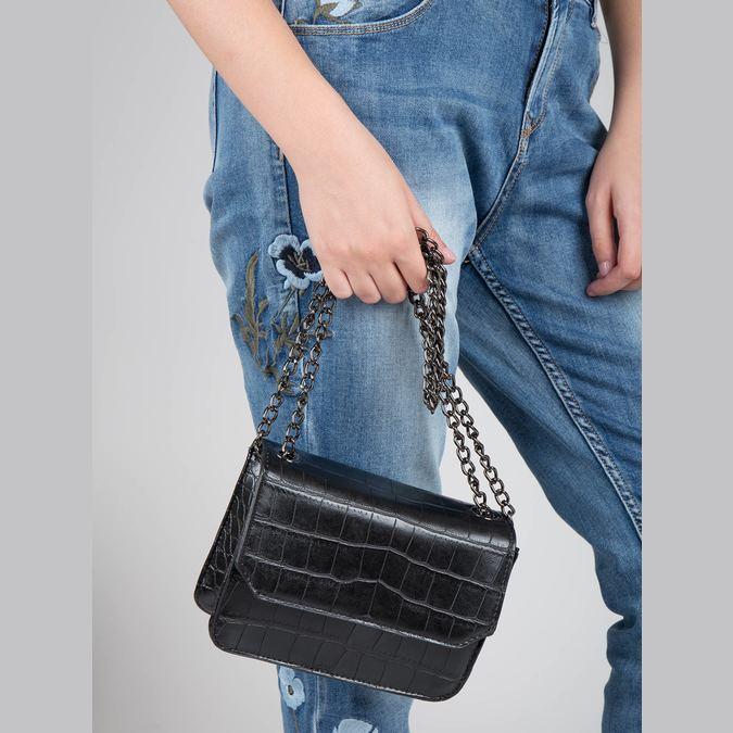 Damenhandtasche mit Kettchen bata, Schwarz, 961-6753 - 17