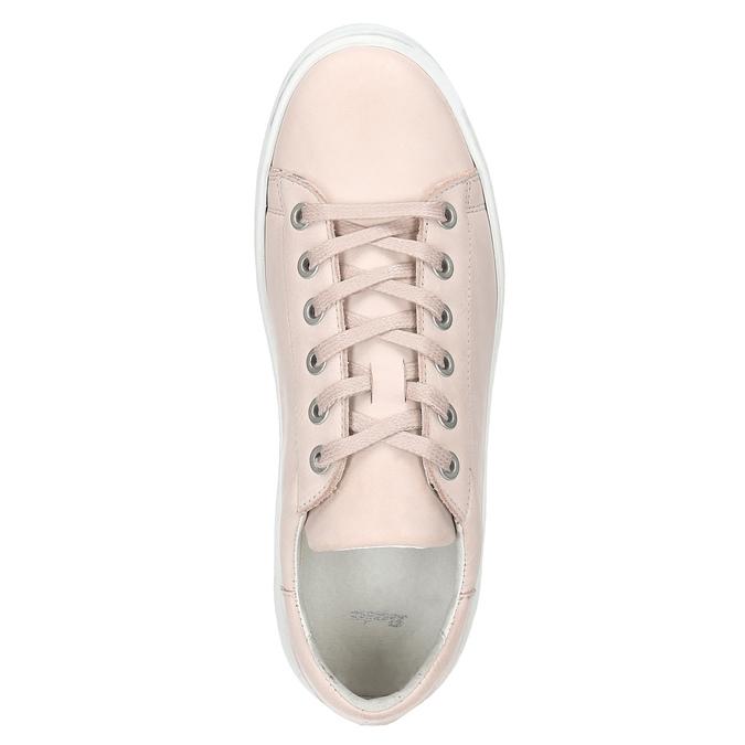 Damen-Sneakers aus Leder bata, Rosa, 526-5641 - 15