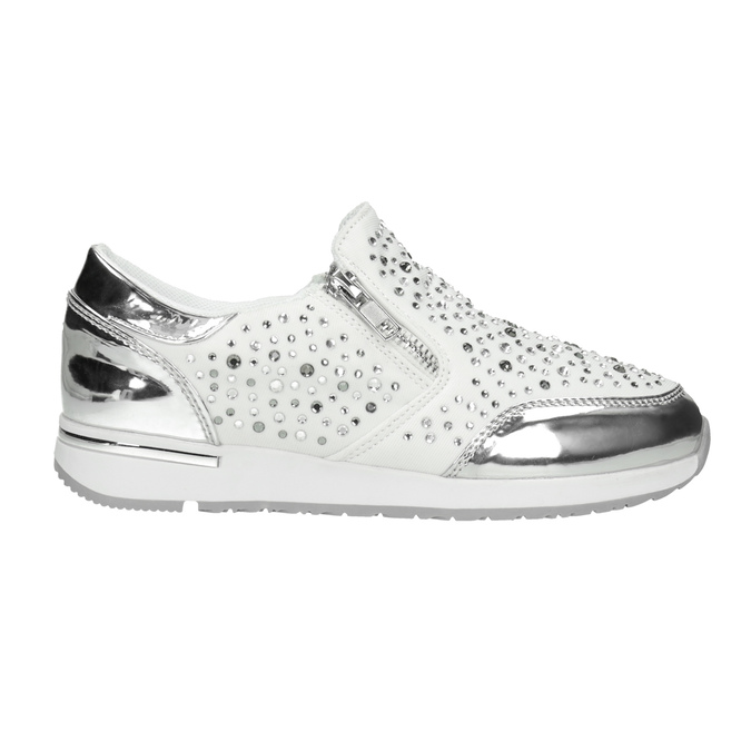 Kinder-Sneakers mit Steinchen mini-b, Weiss, 329-1289 - 26