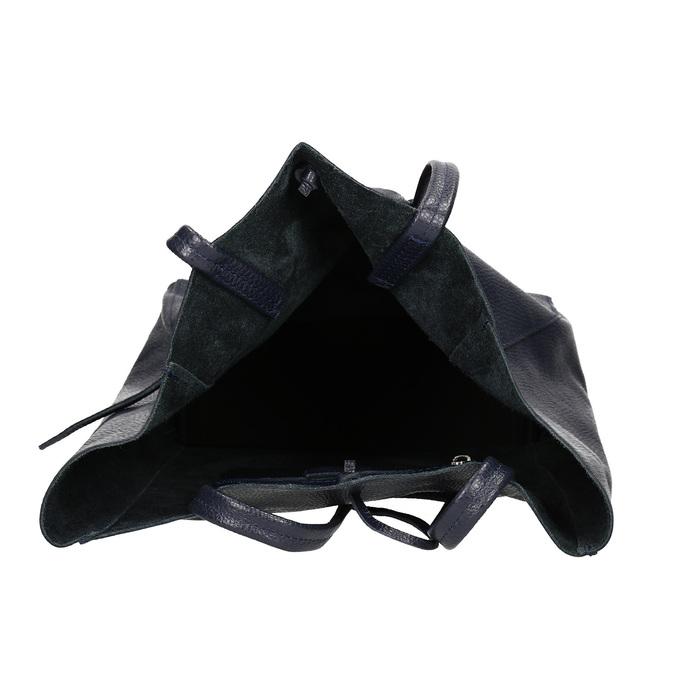 Damen-Shopper-Handtasche aus Leder bata, Blau, 964-9122 - 15