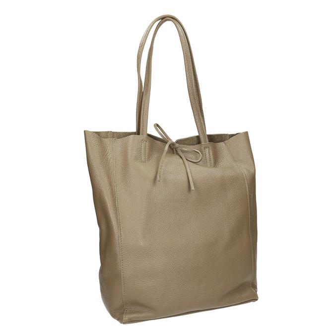 Damen-Lederhandtasche mit Schleife bata, Beige, 964-2122 - 13