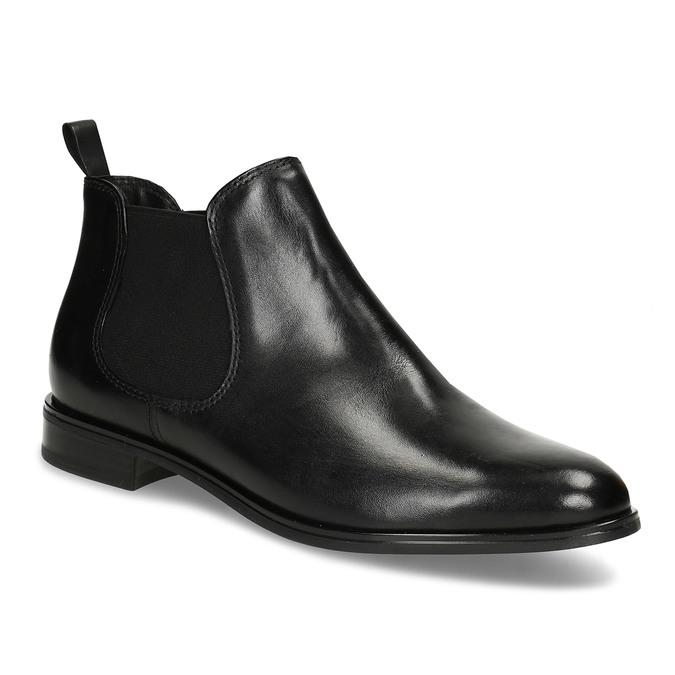 Schwarze Lederschuhe im Chelsea-Stil bata, Schwarz, 594-6635 - 13