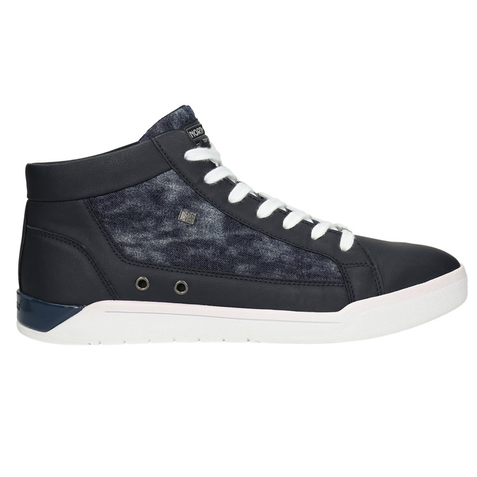 Knöchelhohe Sneakers mit Denim-Details north-star, Blau, 841-9609 - 15