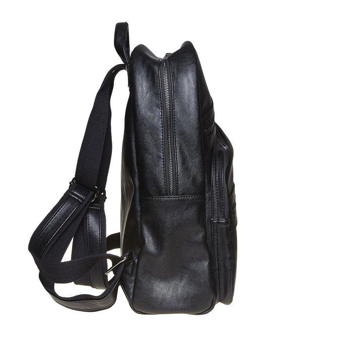 Rucksack mit Reißverschlüssen bata, Schwarz, 961-6516 - 17